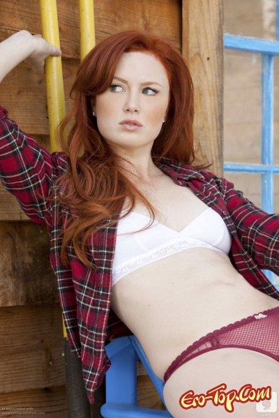 Molly Shaw - рыженькая красотка. Красивая фото эротика.